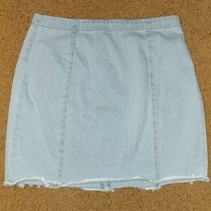 Strechy Jean Mini Skirt
